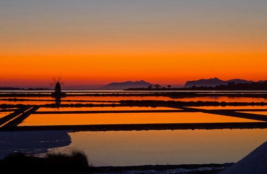 Il tramonto sullo Stagnone