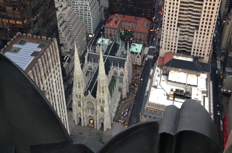 Cattedrale di San Patrizio a New York vista dalla Top of the Rock GetCOO Travel