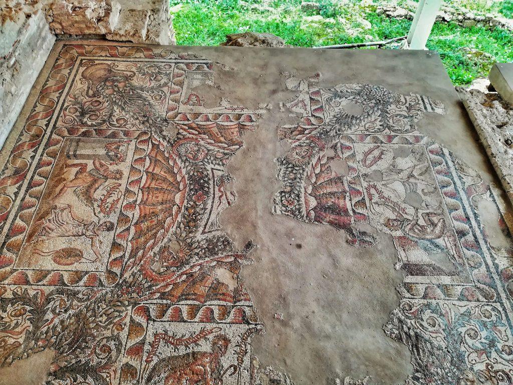 Cosa vedere a Noto: Villa del Tellaro mosaici pavimentali