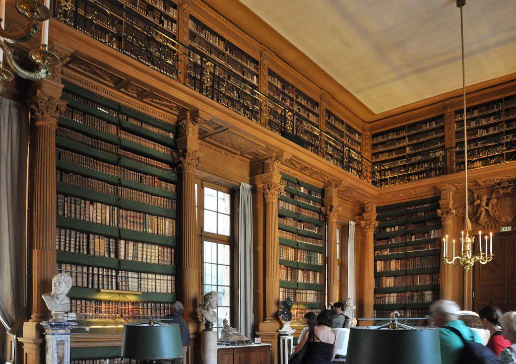 interno della biblioteca mazzarino al palazzo dell'istituto di francia