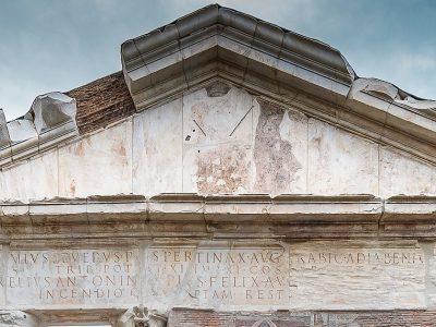 IL PORTICO DI OTTAVIA A ROMA