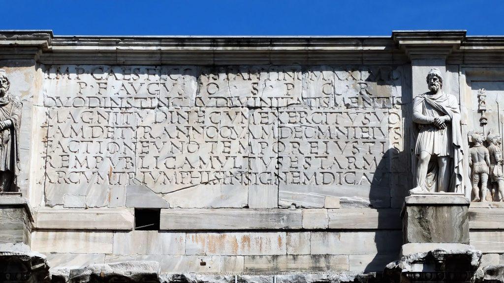 Iscrizioni arco di costantino